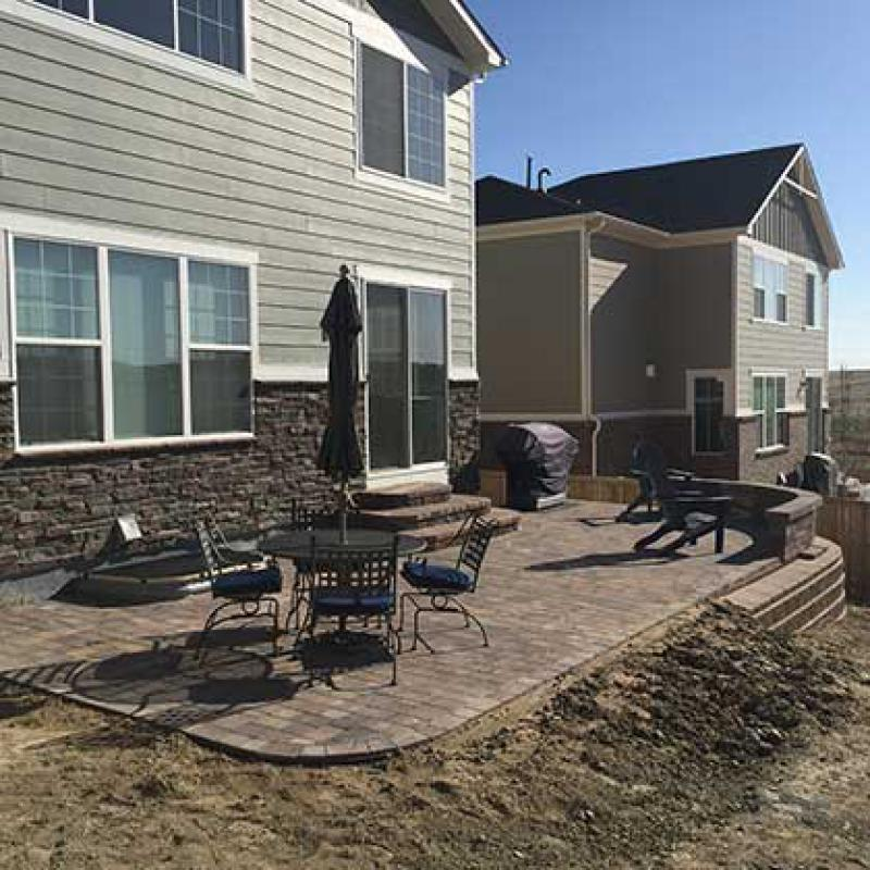 Aurora, CO Back Patio After
