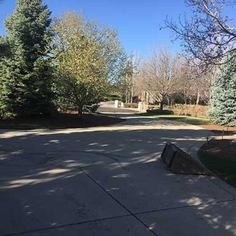 Large Brick Paver Driveway Installation in Cherry Hills