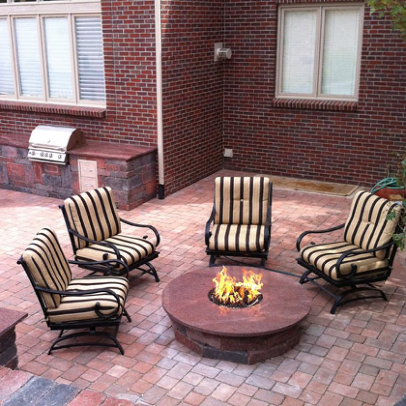 Firepit and Back patio