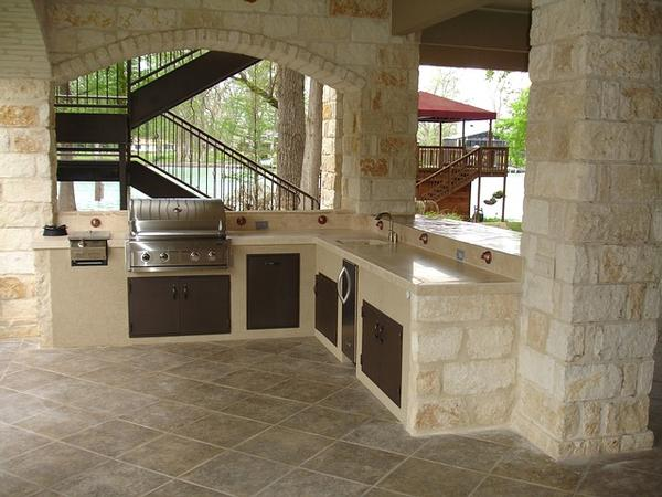 Build Brick Outdoor Kitchen Install Outdoor Kitchen Island Outside Grilling Island