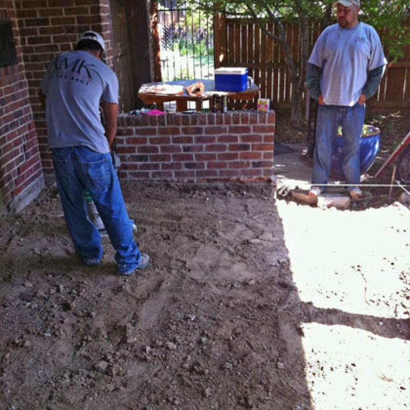 Before Photo of Patio Install
